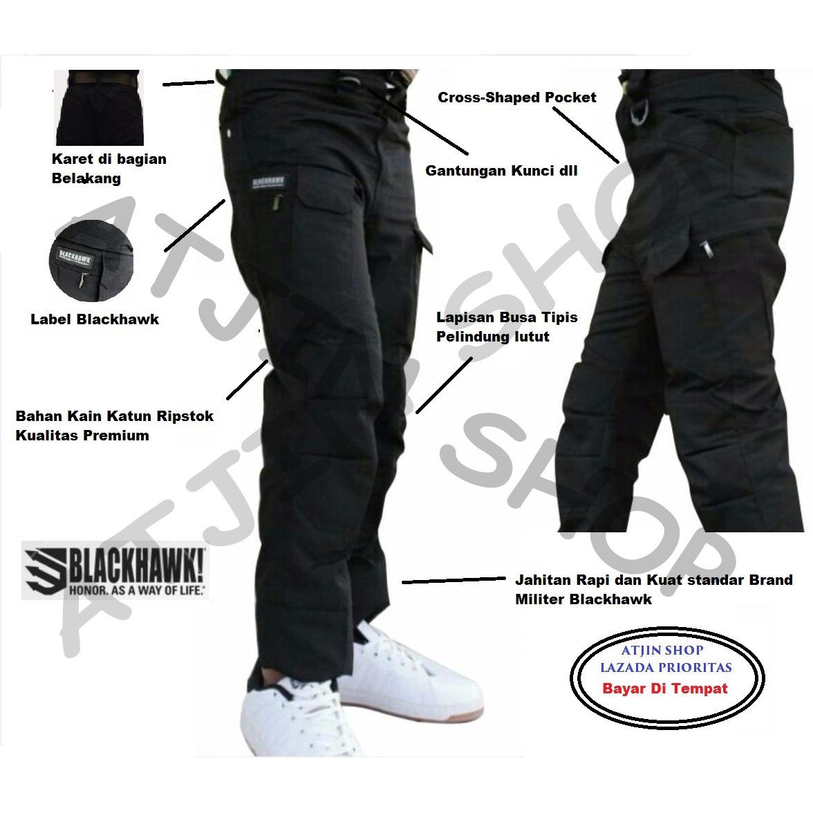 Blackhawk-Celana Tactical Blackhawk Panjang PDL Kargo Long Pants [HITAM]